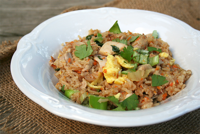 Chicken Fried Rice Recipe in the Rice Cooker!