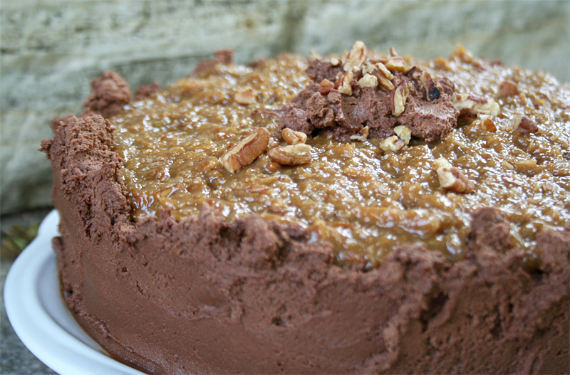Caramel Pecan Frosting German Chocolate Cake