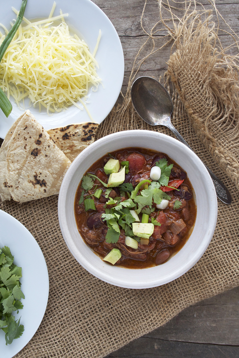 Chicken Mole Chili | myhumblekitchen.com