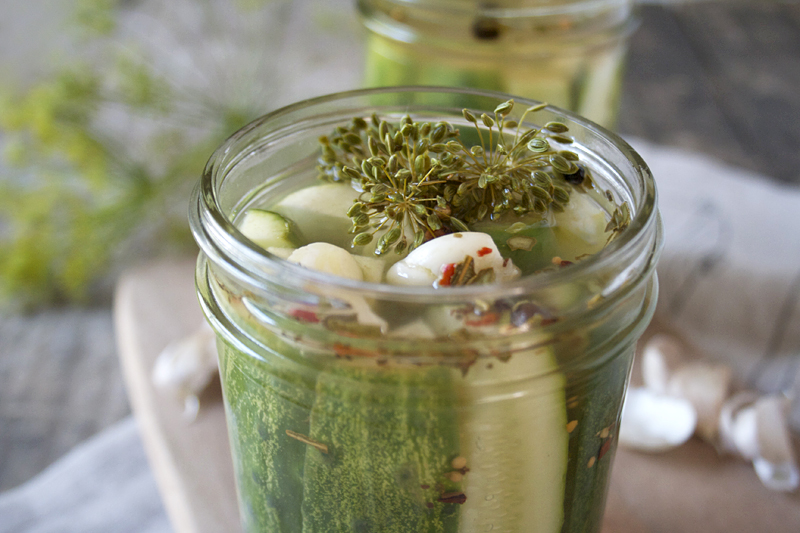 Quick and Simple Refrigerator Pickles