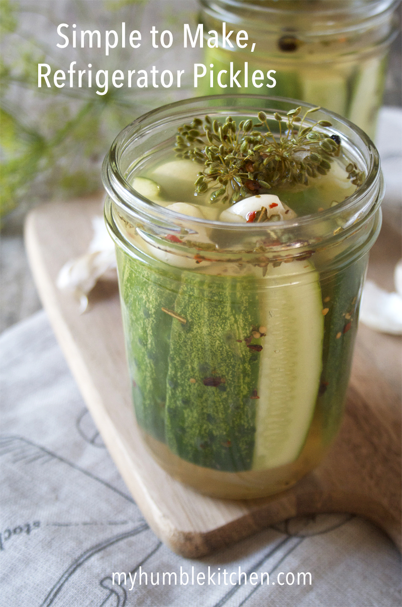 Simple to Make Refrigerator Pickles | myhumblekitchen.com