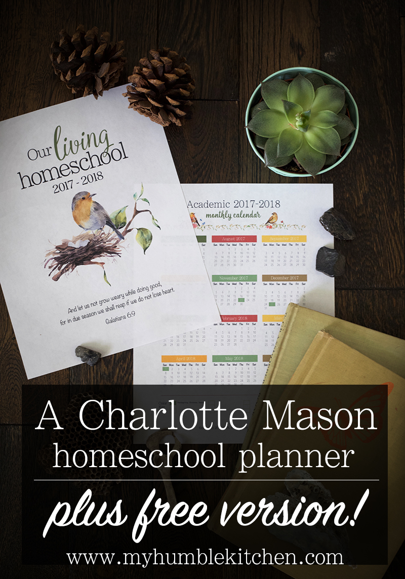 A Charlotte Mason Homeschool Planner PLUS Free Version