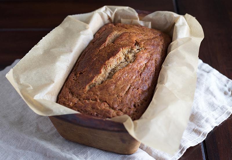 Naturally Sweetened, Whole Wheat Einkorn Banana Bread | myhumblekitchen.com