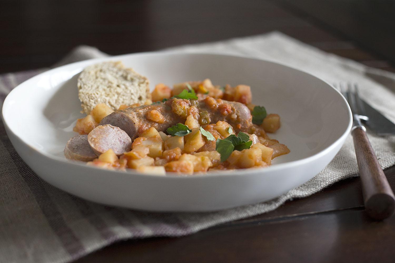 A Humble Stew – Sausage and Potatoes