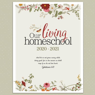 2020-2021, Charlotte Mason Homeschool Planner and Giveaway!