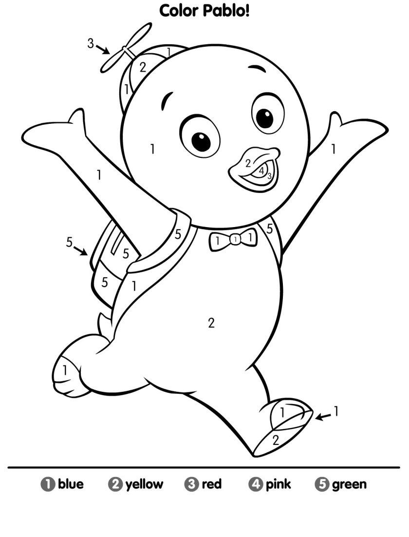desenhos para colorir dos backyardigans