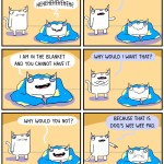 Cat Comic Blanket