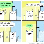 cat comic break