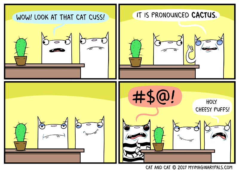 "Cat and Cat in ""Cactus"""
