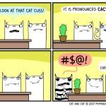 cat comic cactus