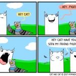 cat comic pigeon