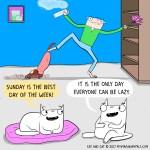 cat comic lazy