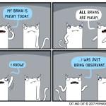 cat comic brain mush