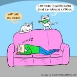 cat comic growth