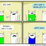 cat comic nice shirt relatable