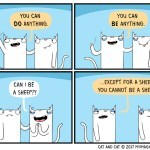 cat comic sheep