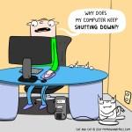 cat comic shutdown
