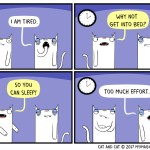 cat comic tired
