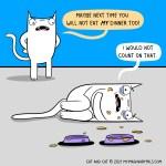 Cat comic dinner