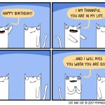 Cat comic birthday