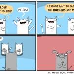 cat comic july 4th