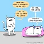 cat comic weekend