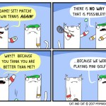 cat comic sports