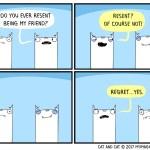 cat comic resent