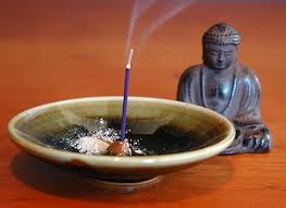 burn incense in incense holder for safe