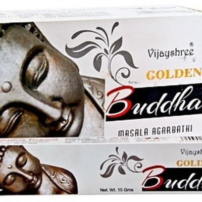 golden buddha incense by Vijayshr