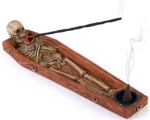 grim reaper skeleton incense holder ash catcher free incense