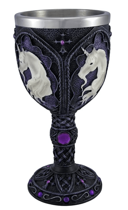 Unicorn goblet wineglass cup