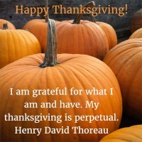 Henry David Thoreau: Happy Thanksgiving