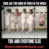 Dance, Dance, Dance: Two Kinds of People in the World