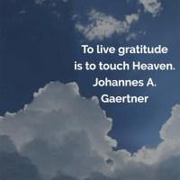 Johannes Gaertner: Live Gratitude