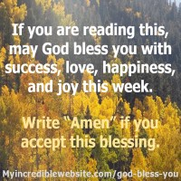 May God Bless You With Success!