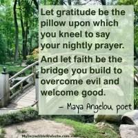 Maya Angelou: On Gratitude and Faith