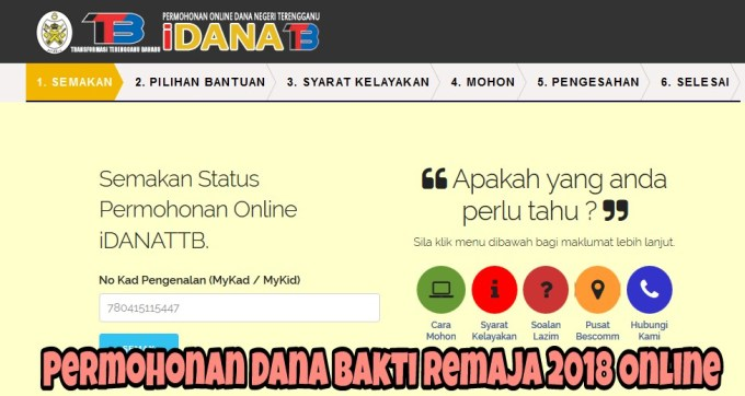 Permohonan Dana Bakti Remaja 2018 Online