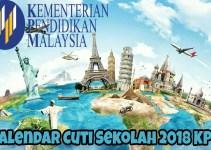 Kalendar Cuti Sekolah 2018 Kementerian Pendidikan Malaysia