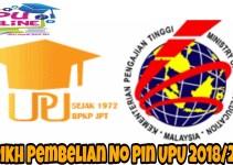 Tarikh Pembelian No Pin UPU 2018/2019