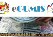 eGUMIS Semakan Wang Tak Dituntut WTD Online