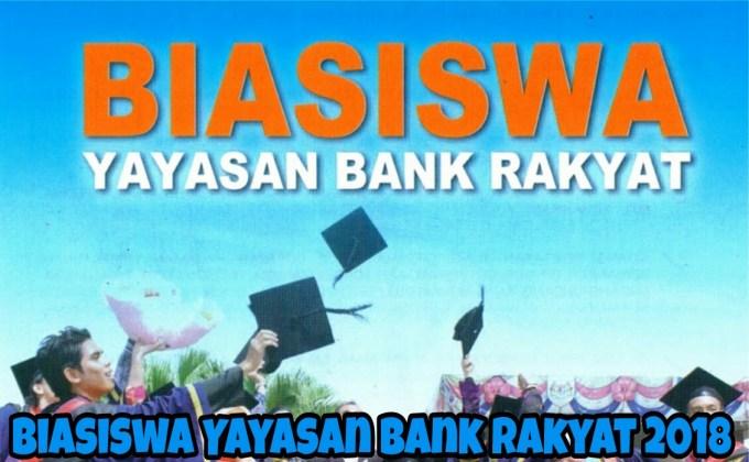 Permohonan Biasiswa Yayasan Bank Rakyat 2018