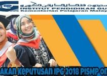 Semakan Keputusan IPG 2018 PISMP Online