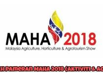 Tarikh Pameran MAHA 2018 (Aktiviti & Acara)