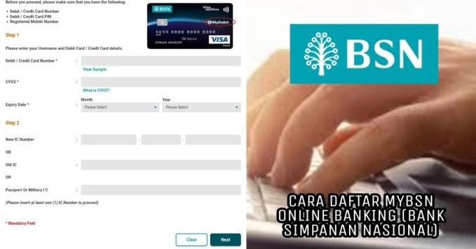 Cara Daftar Mybsn Online Banking 2020 Bank Simpanan Nasional