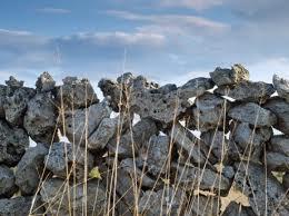 stone wall sky