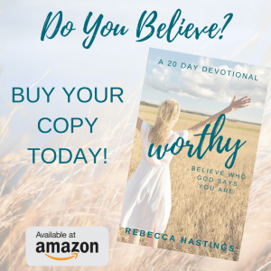 You have the chance to live your life believing all that God says about you! This book will help you through stories, scripture, prayer & action steps so you can live believing!