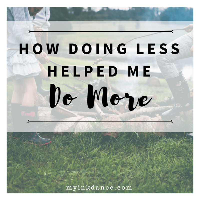 Do you ever feel like you have so much to do and you can't get anything done? Maybe the secret is easier than you think! Find out how doing less may be the answer to help you DO MORE!