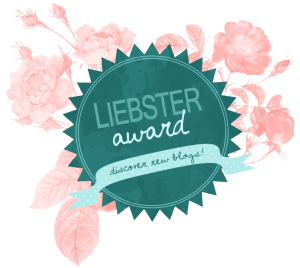 I'm honored to be nominated for the Liebster award!