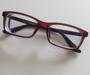 Firmoo glasses red and black